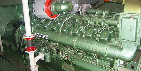 Ship machinery maintenance